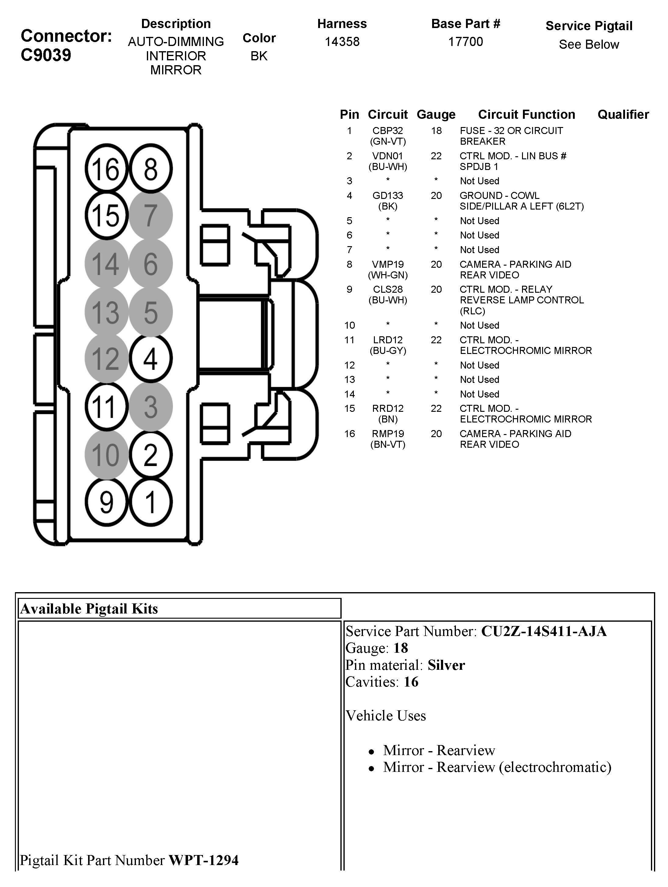 How To Wire Gentex Mirror 313 Rear View Mirror Diagram Wire