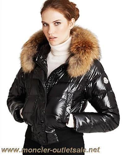 Moncler Alpin Classic Eider Down Jackets Women Fur Collar Black Outlet 037c3178dd7