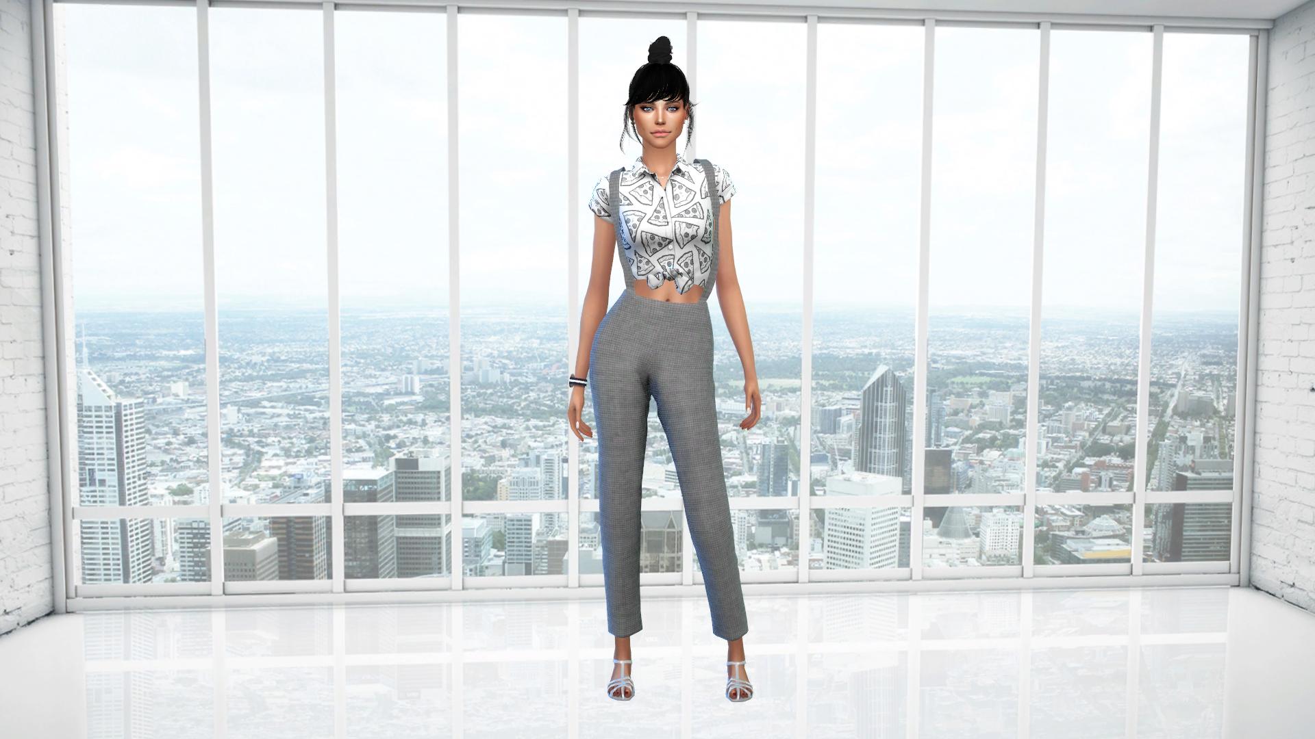 White Loft Cas Background Sims 4 Cas Sims
