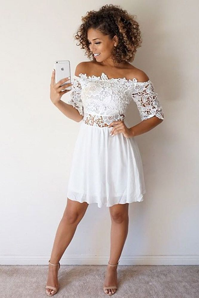 top 30 graduation dress designs  white homecoming dresses