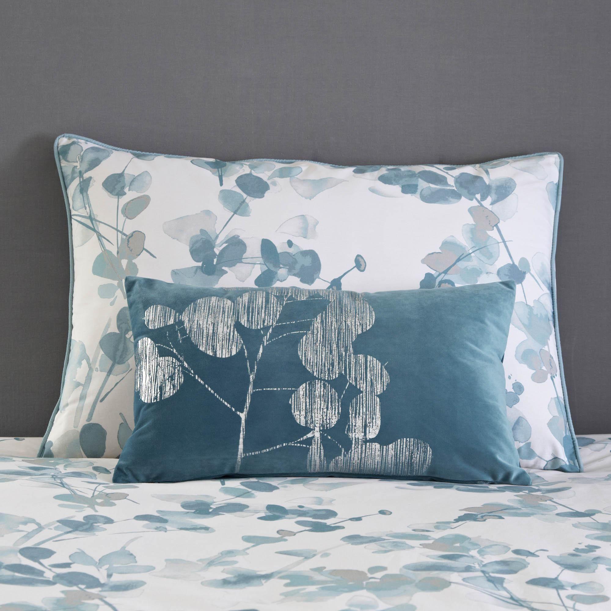 Honesty Teal Oxford Pillowcase | Dunelm