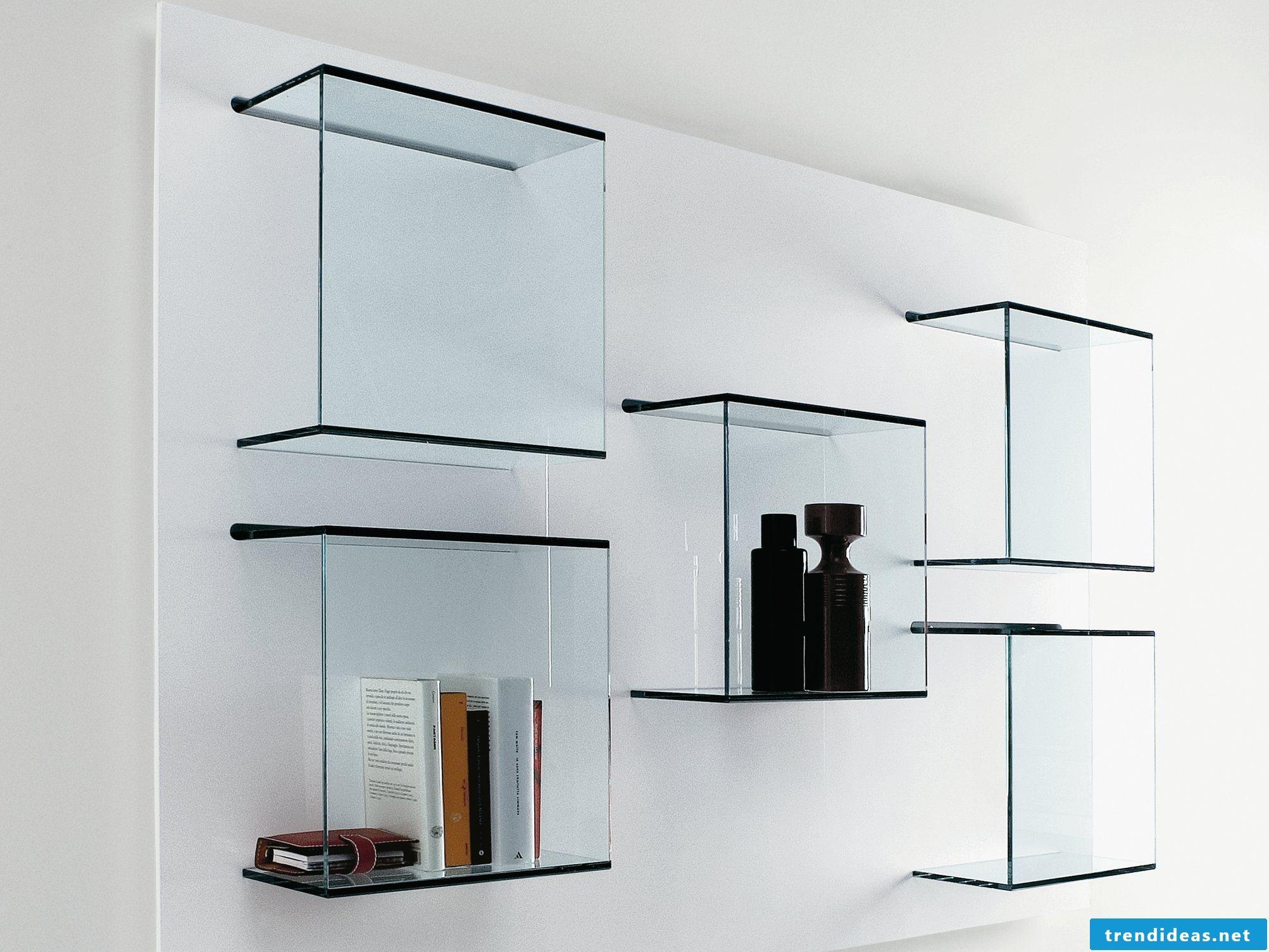39 ideas for glass shelves for every room design | Pinterest | Glass ...