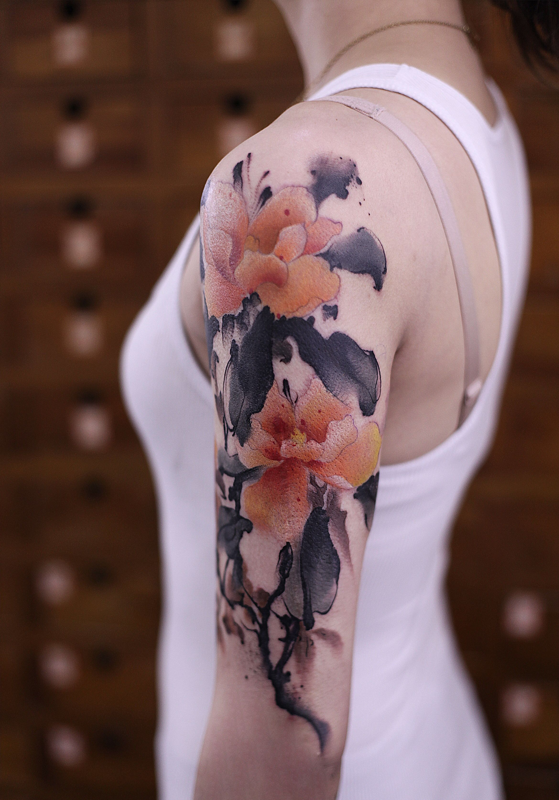 Tattoos Chinese Ink Painting Instagram Newtattoo陈洁 Avec Images