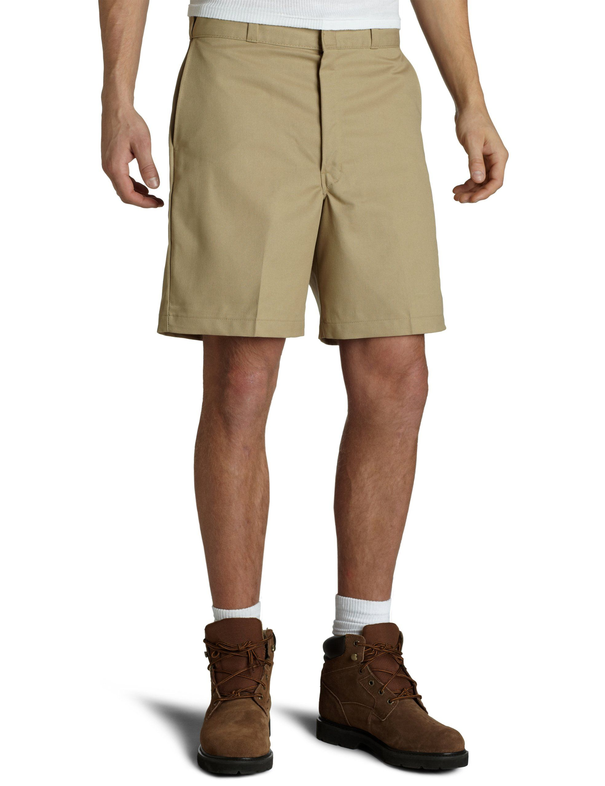 Dickies Men's Traditional Flat Front Work Short, Khaki, ...