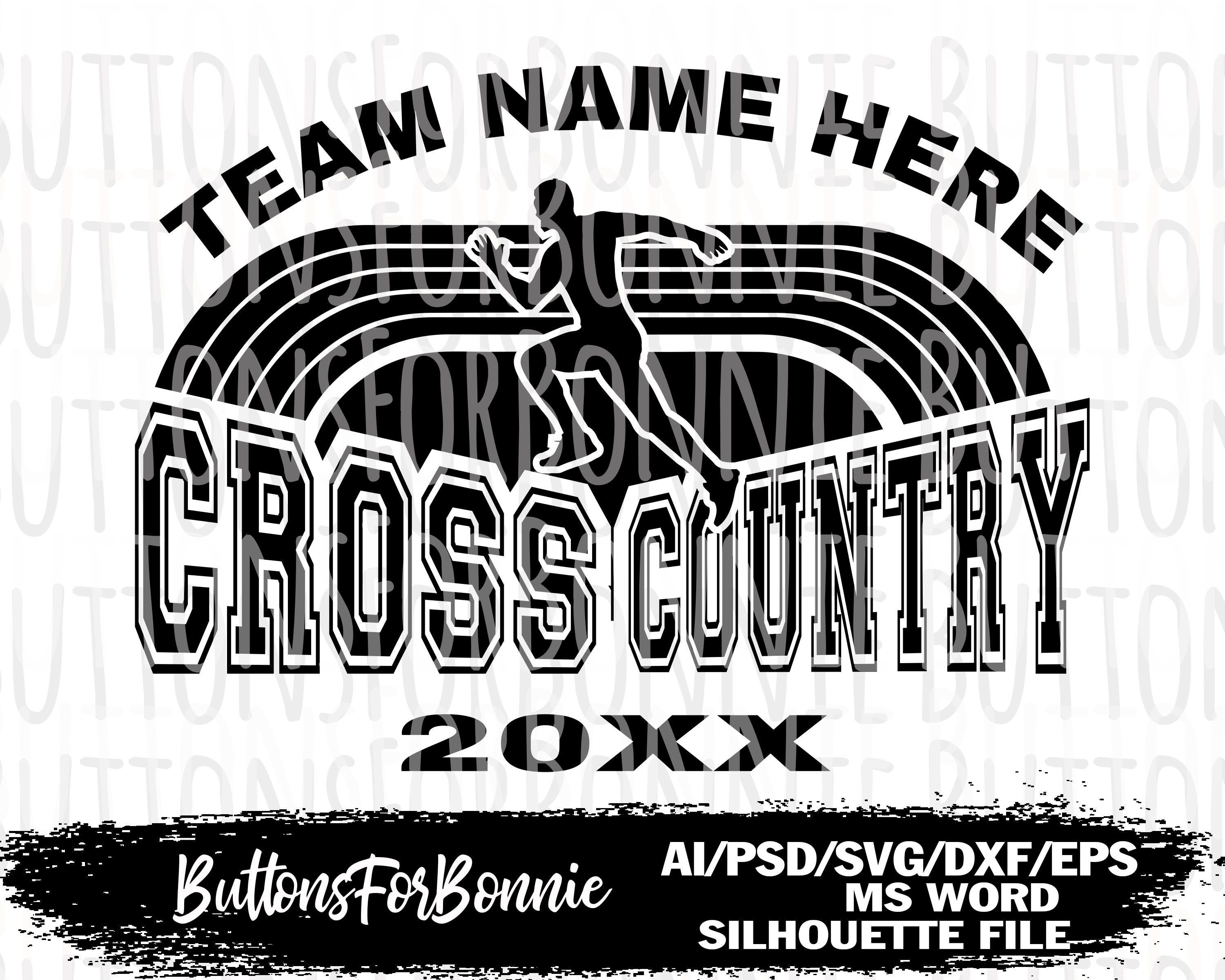 Cross Country Svg Cross Country vector template cross