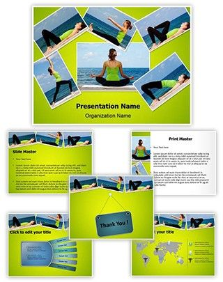 yoga exercises collage powerpoint presentation template is one of, Presentation templates