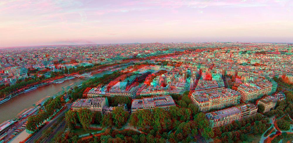 Paris 3D - Est side from Tour Eiffel