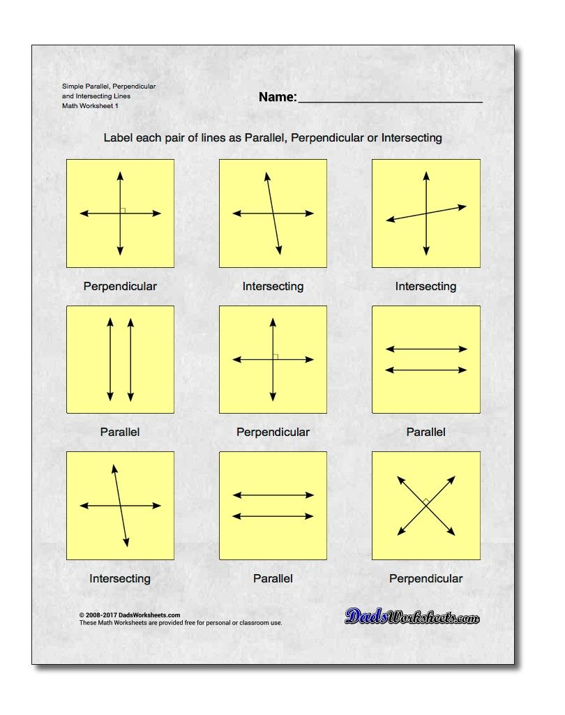 Basic Geometry This page contains links to free math worksheets for ...
