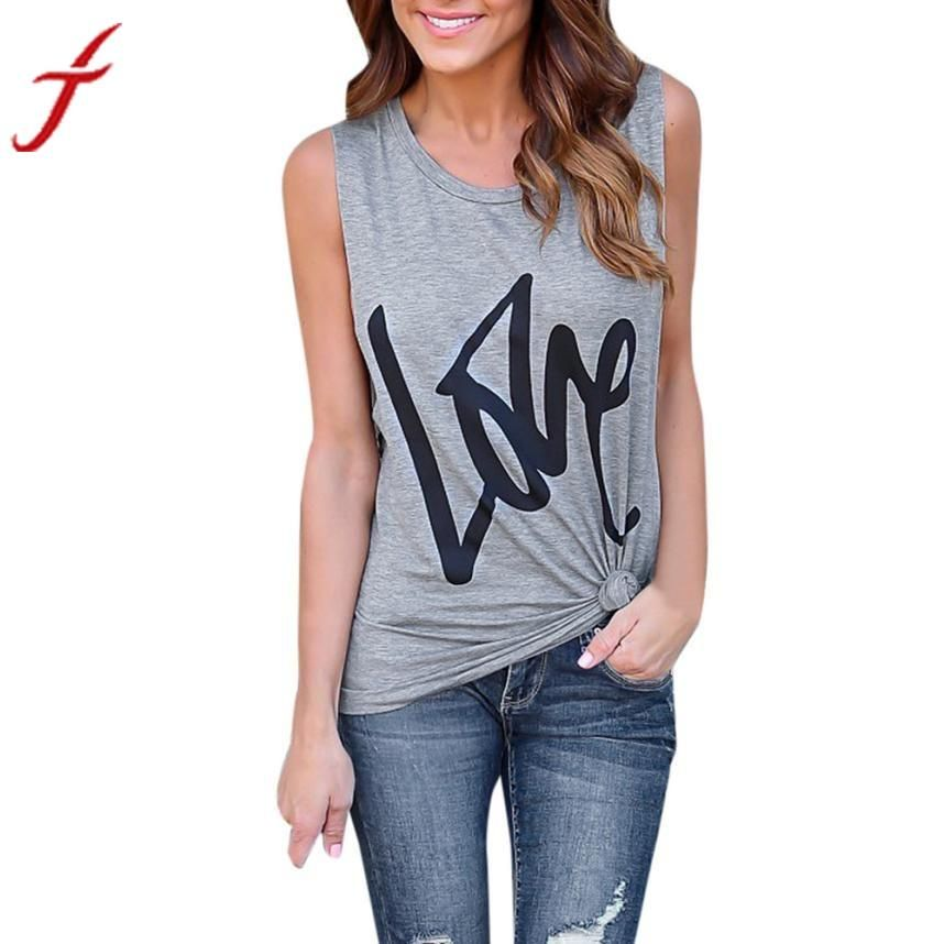 39ed359bba9eb2 LOVE Letters Printing Womens T-Shirt Cotton Summer | Mea Wish ...