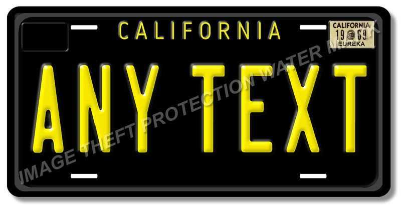 Details about California Any TEXT MONTH YEAR Personalized Custom