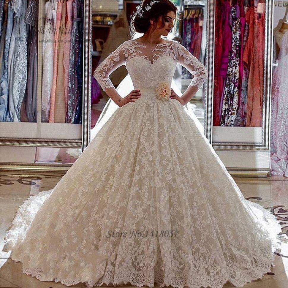 14 Luxus Brautkleider in 14  Hochzeitskleid spitze
