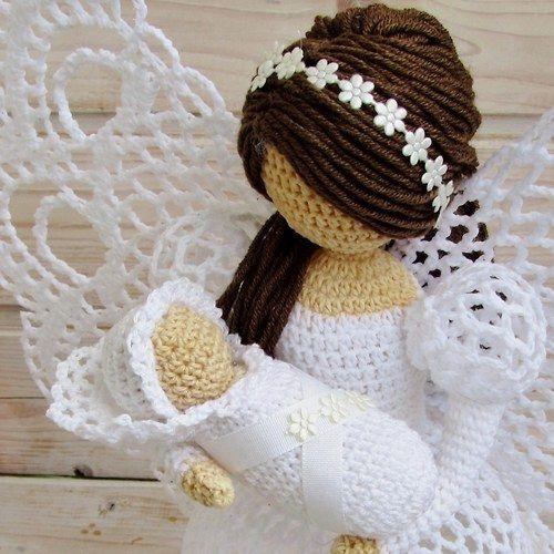 A céu aberto crochet anjo