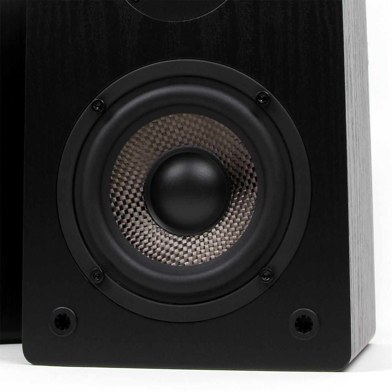 Amazon Micca MB42 Bookshelf Speakers With 4 Inch Carbon Fiber Woofer And Silk Dome Tweeter Black Electronics