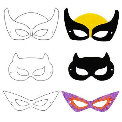masques de super h ros faire soi m me activt s avec les enfants pinterest masques de. Black Bedroom Furniture Sets. Home Design Ideas