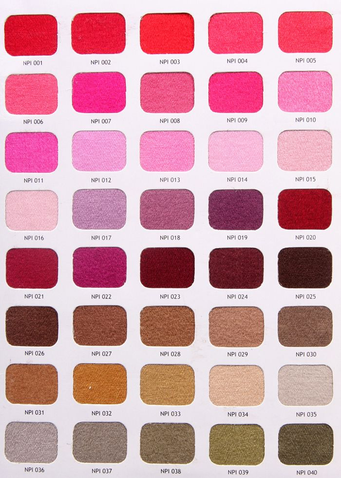 Diffe Shades Of Pink Color Chart
