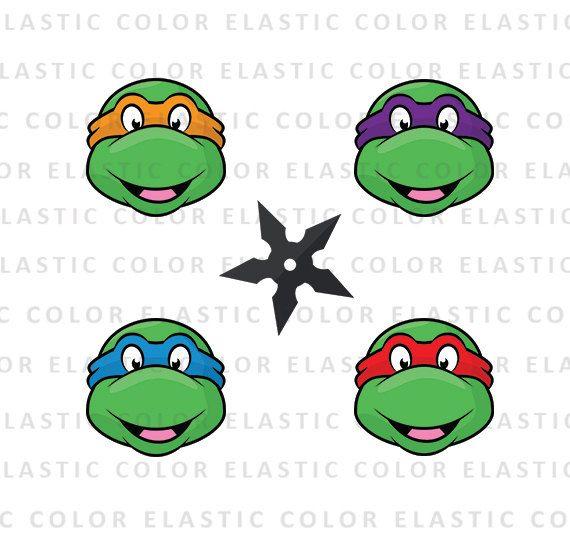 ninja turtles svg teenage mutant ninja head clipart digital rh pinterest com au
