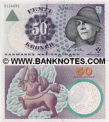denmark currency | Denmark 50 Kroner 2001 - Danish Currency Bank Notes, Paper Money ...