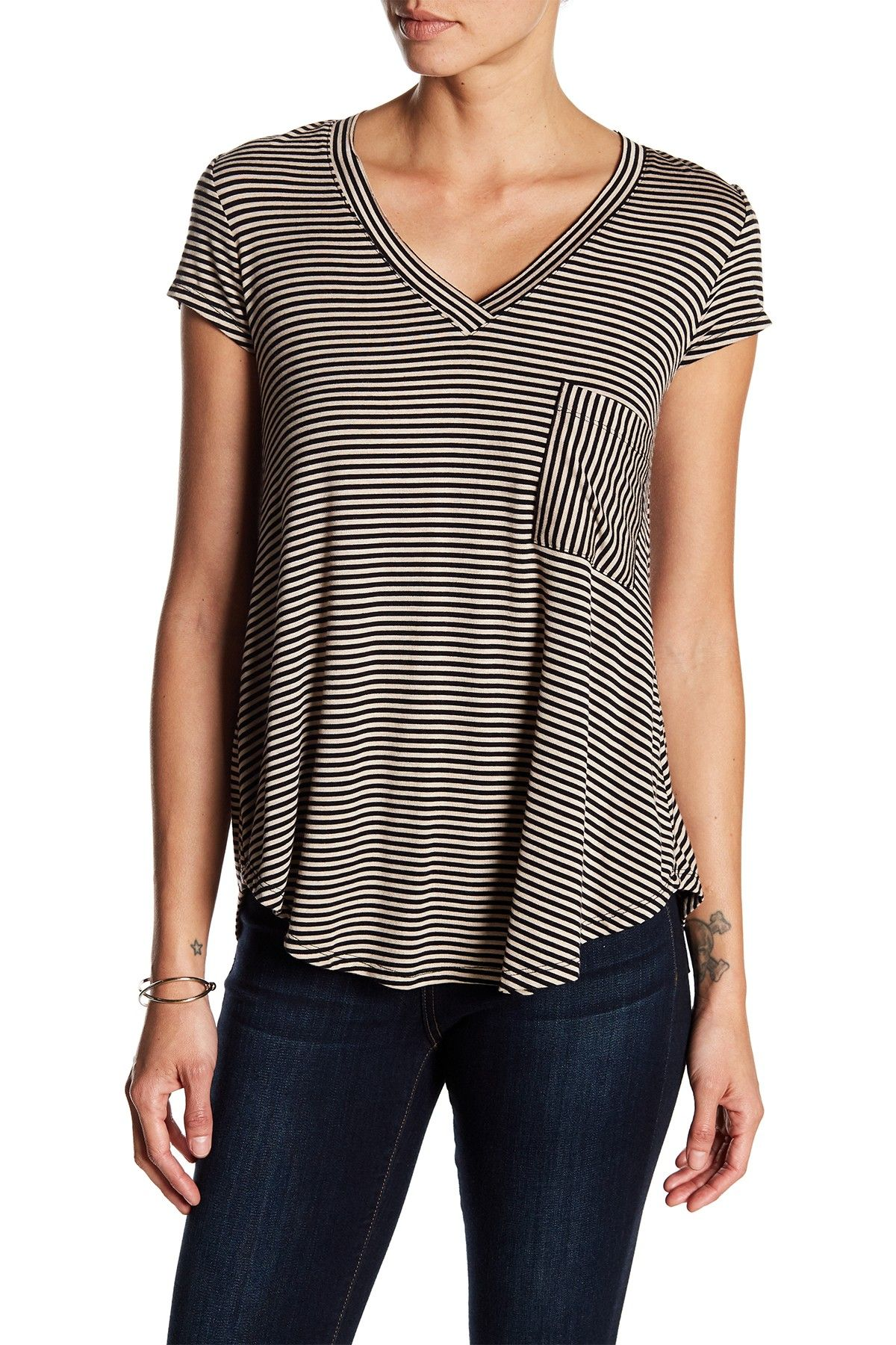 839c39d9b479c Striped V-Neck Tee by H By Bordeaux on  nordstrom rack