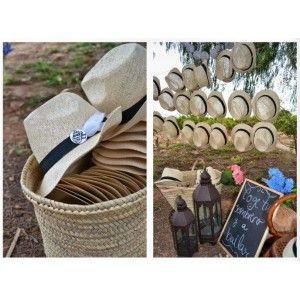 Sombreros de ala corta para bodas - Decoración y detalle