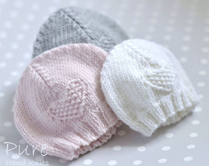 SIMPLE baby hat PREEMIE and NEWBORN knitting pattern | Knitting ...