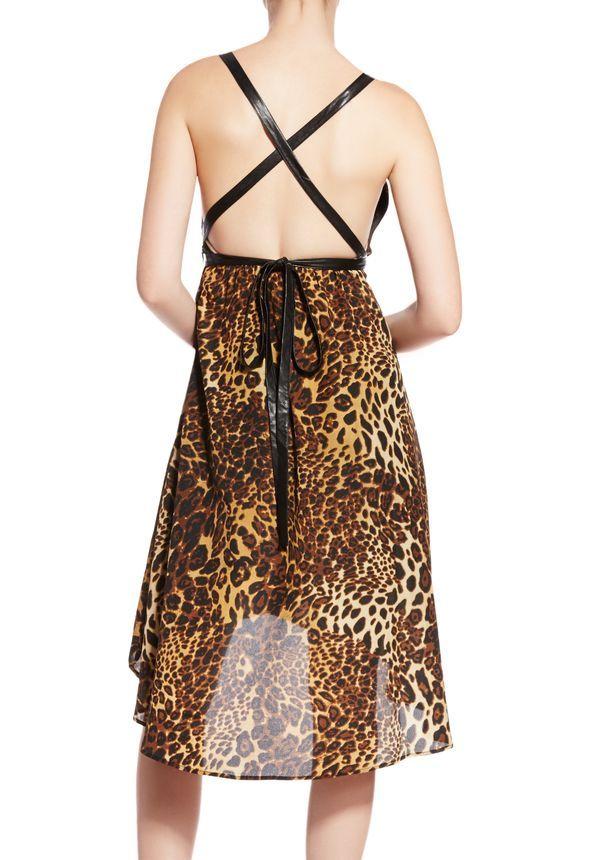 Ropa Colette High Low Dress en Cheetah Print - Envío gratuito en JustFab