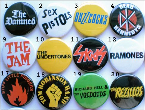 70 S Punk New Wave Band Collection 56 Badges Inc The Damned The Clash Etc Ebay 70s Punk Punk Punk Music