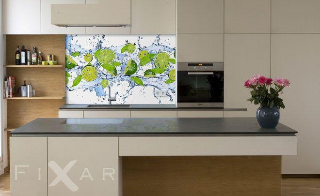 Erfrischende Limonen Fototapeten für Küche und Esszimmer Pinterest - fototapeten für die küche