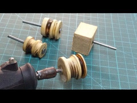 Leather workers sanding drum kit burnisher slicker leather tool