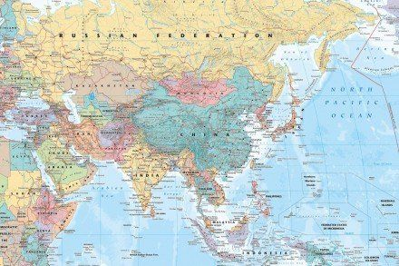 Asia middle east map maxi poster world mapseducational asia middle east map maxi poster gumiabroncs Images