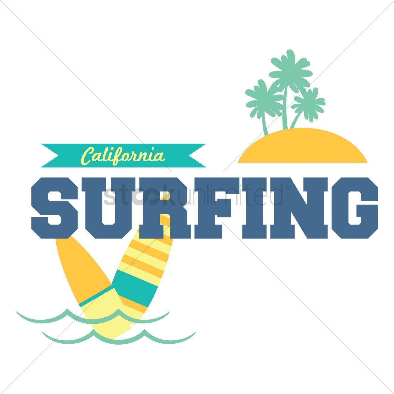 California surfing text stock vector ,