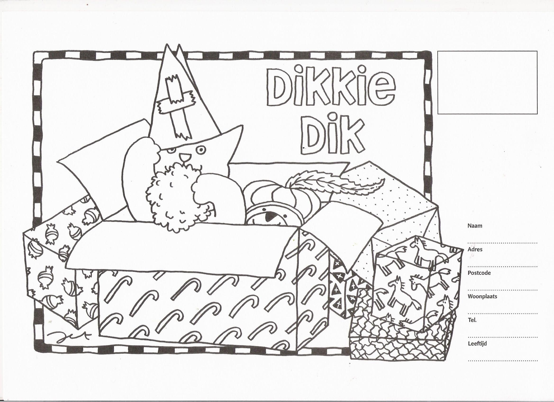 Sinterklaas Kleurplaat Dikkie Dik Kleurplaten Sinterklaas Sesamstraat