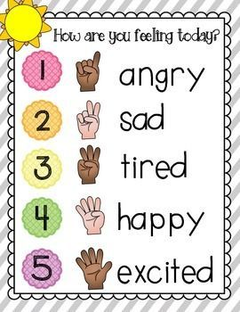 Great For Morning Meeting Routine Students Hold Up A Finger To