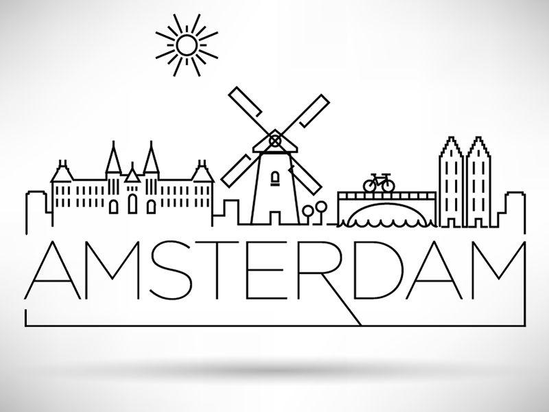 Amsterdam City Lines Com Imagens Cidade Desenho Amsterda