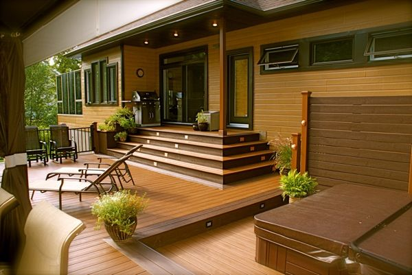 Exterior Deck Stair Tread Composite Decking Cheap Recycled