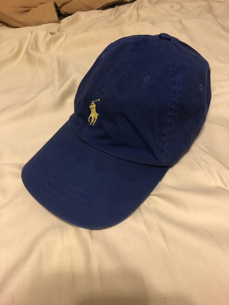 Polo Ralph Lauren Hat Leather Strap Blue W yellow Horse  fashion  clothing   shoes  accessories  mensaccessories  hats  ad (ebay link) 23172d2b0a4d
