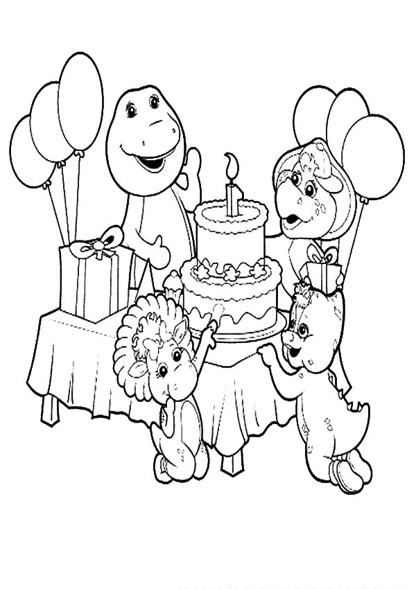 Barney And Friends Celebrate Birthday Coloring Pages Best Place To Color Birthday Coloring Pages Cartoon Coloring Pages Bear Coloring Pages