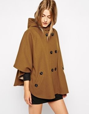 b3ab4d7817f2 Sessun Reina Cape Poncho Coat - Tobacco brown on shopstyle.co.uk ...