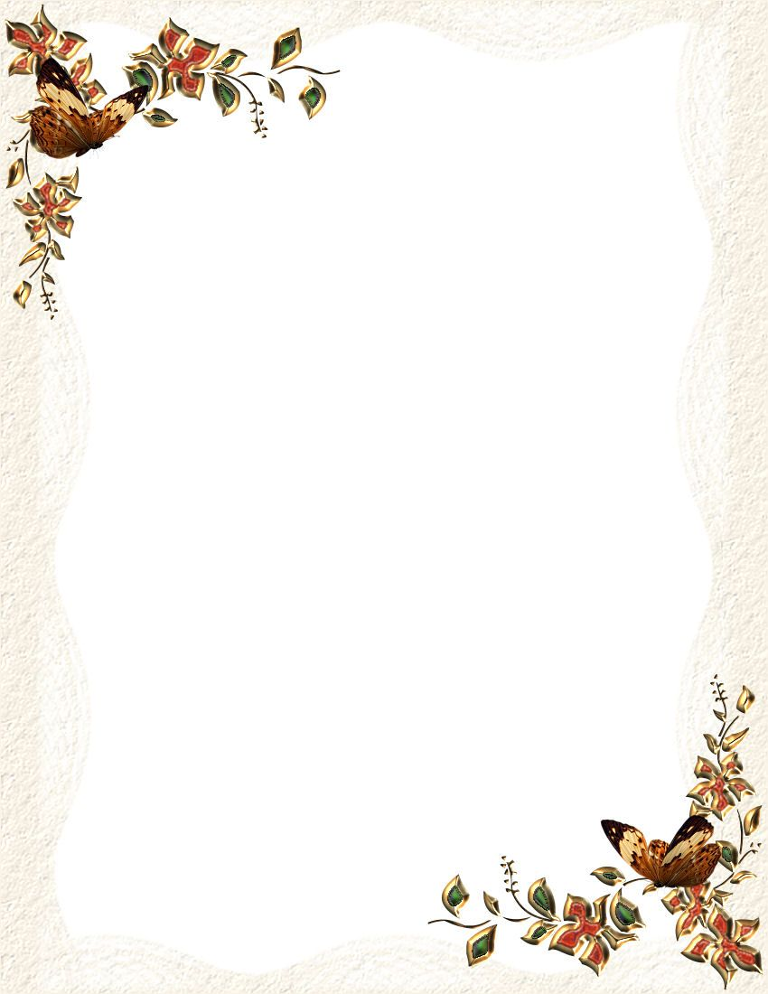 Free Fall Stationery Templates Printable Stationery Borders For Paper Journal Stationery