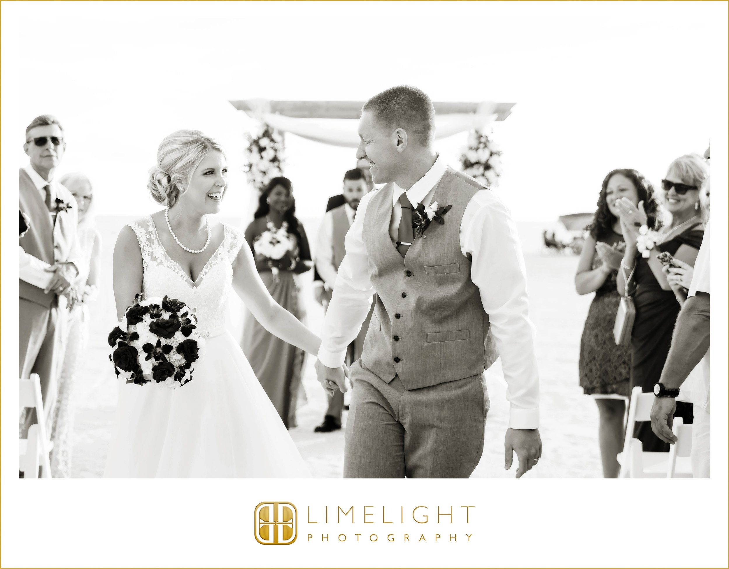 Bride And Groom Wedding Ceremony Wedding Day Beach Wedding Florida Sirata Beach Resort Teal Inspiration Purple Grey Harry Wedding Bride Beach Ceremony
