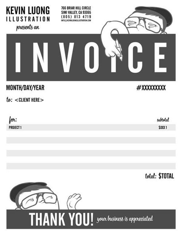 Invoice Design 50 Examples To Inspire You Pinterest Marketing