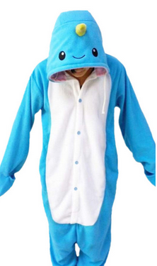 New Adult Animal Footed Narwhal Onesies Cetacean Pajamas Women Animal Pijamas Costumes Homewear Lounges Fleece Unisex Sleepwear Underwear & Sleepwears