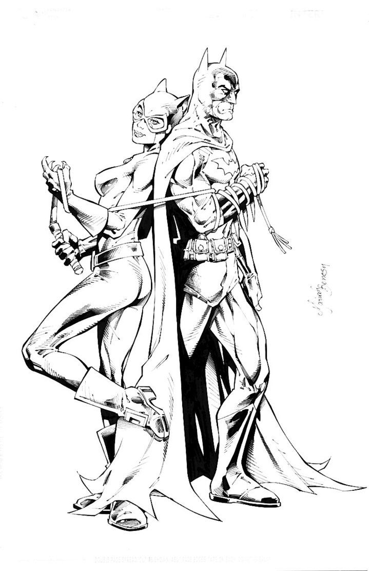 Mariah Benes Catwoman Batman Spiderman Coloring Batman And Catwoman Catwoman Comic