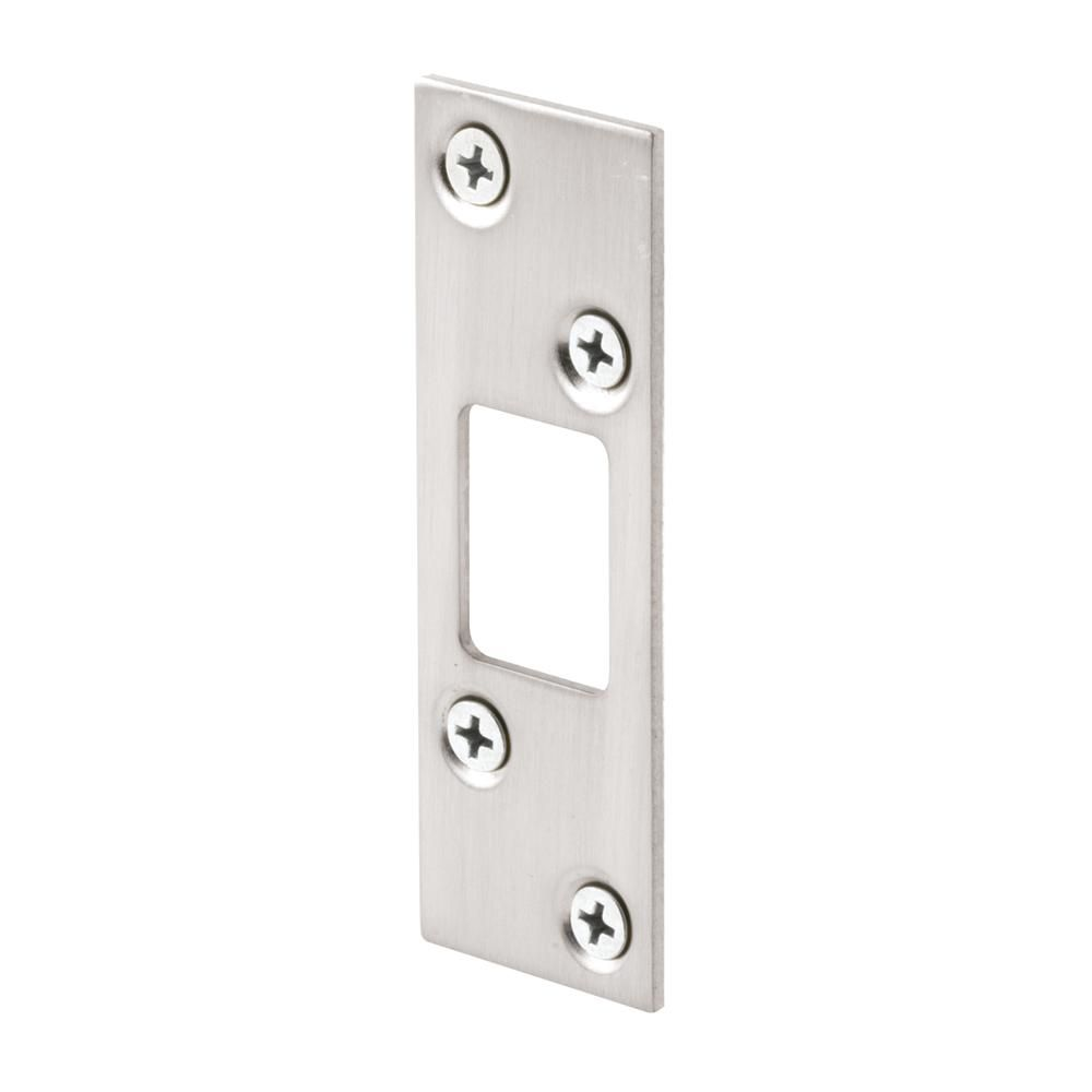 Prime Line 1 1 4 In Sating Nickel Plated Stamped Steel Constructed Deadbolt Strike In 2019 Entry Doors Doors Electronic Deadbolt
