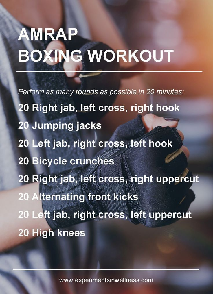 AMRAP Workouts | Boxing Workout | Experiments In Wellness