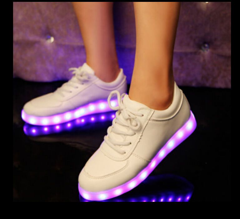 Hot Sale Womens LED Round Toe Lace Up 8 Colors Flat Sneaker Shoes Boots Plus SZ  £28.88 free p+p UK