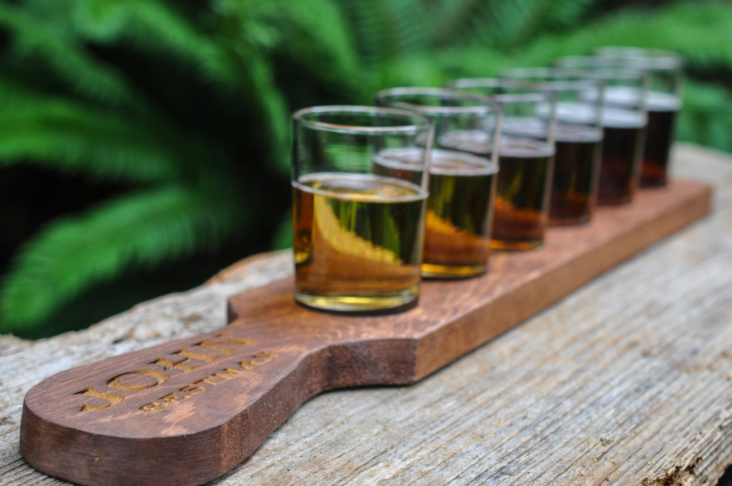 Engraved Beer Flight Tray Wedding Gift Groomsmen Housewarming And Lover Customized