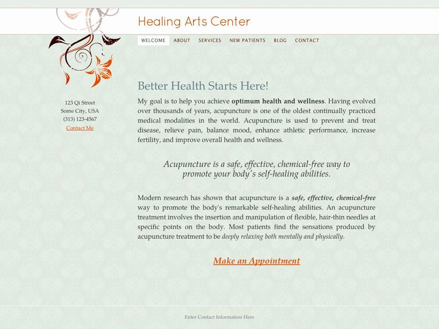 Simple Life Acupuncturist Website Design 00027 Website Design Web Design Responsive Theme