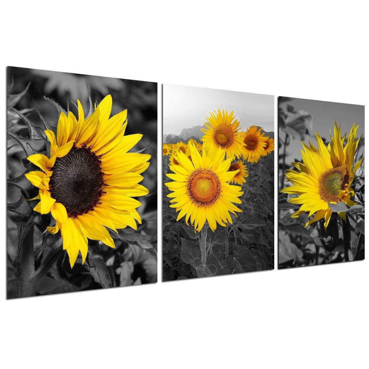 Sunflower Decor Wall Art Prints