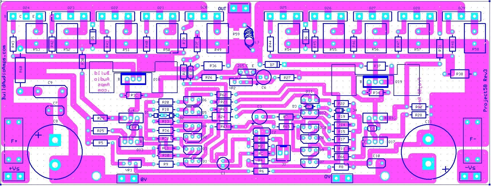 Amplifier Circuit Diagram With Pcb Layout Efcaviation Com Fb Stk 4050 8211 200watt Power