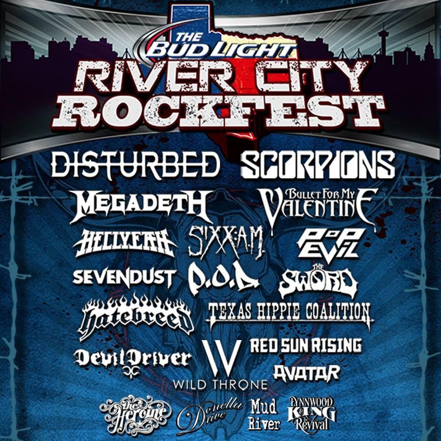 River City Rockfest 2016 Line Up In San Antonio Texas